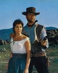 Marianne Koch e Clint Eastwood