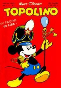 """La copertina del primo numero di """"Topolino"""" formato libretto"""