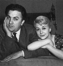 Fellini e Giulietta Masina