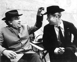 Federico Felllini e Marcello Mastroianni