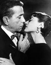 "Bogart e Audrey Hepburn in ""Sabrina"" (www.loc.gov)"