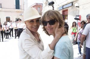 Virna Lisi e Francesca Comencini sul set di