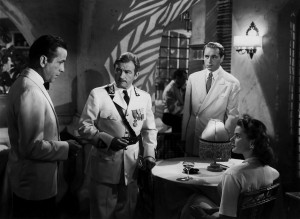 Bogart, Claude Rains, Paul Henreid, Ingrid Bergman