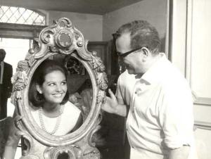 Claudia Cardinale e Antonio Pietrangeli sul set de