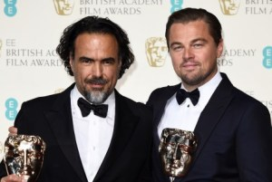 Mandatory Credit: Photo by David Fisher/REX/Shutterstock (5586119dt) Alejandro G. Inarritu and Leonardo DiCaprio - Best Actor EE BAFTA British Academy Film Awards, Press Room, Royal Opera House, London, Britain - 14 Feb 2016