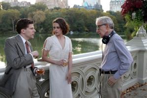 Jesse Eisenberg, Kristen Stewart e Woody Allen