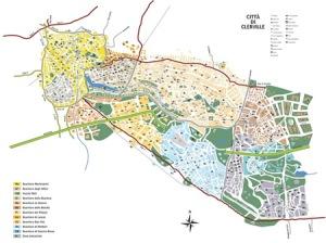 La mappa della città di Clerville