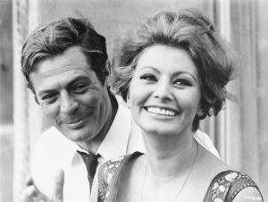 Mastroianni e Sophia Loren