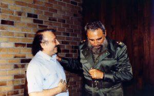 Gianni Minà e Fidel Castro